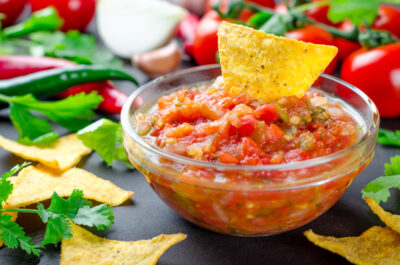 Homemade salsa to big sale