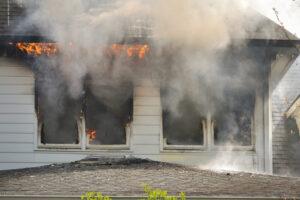 house with smoke damage